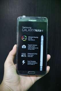 Samsung Galaxy Note 4 Second Bekas Mulus Original Fullset