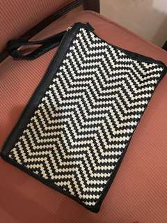 FOR RENT Black and White Spacious Evening Bag
