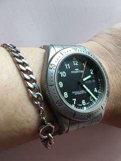 Fortis Swiss Official Cosmonaut 腕錶 舊裝 有單 太空潛水軍表
