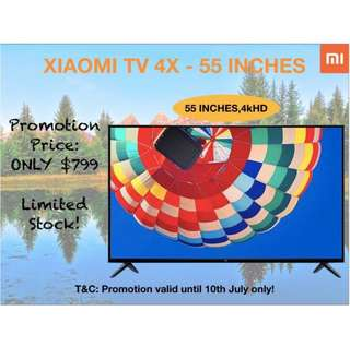 "TV xiaomi TV 4X ""55 inches 4K smart Android tv"