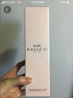 Coach perfumed body lotion