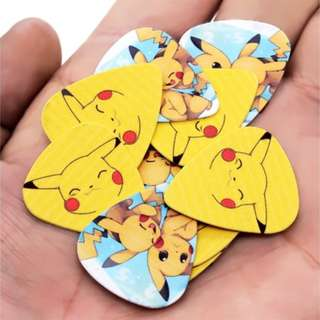 1cm Musical Accessories Picks the Animation Pets Pikachu Guitar Picks Mix Plectrums