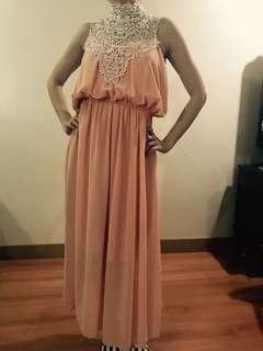FOR RENT Pink Blush Victorian Lace Dress