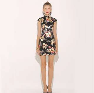 🚚 Metallic Floral Dress Gold Spray Printed Sexy Summer Dress Lace Up Backless Women Party Dress Club Mini Dresses