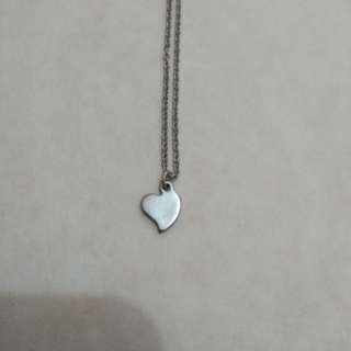 Mini heart choker necklace stainless steel