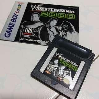 100% Authentic WWF wrestlemania 2000 gbc nintendo