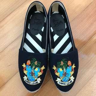 100% New Christian Louboutin 漁夫布鞋 (size 36)