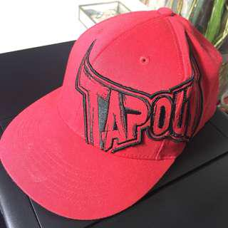 TapOut Cage Fighting Logo FlexFit FlatBill Hat