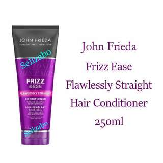 Conditioner For Straight Hair  : Head : Wash : John Frieda : Freda : Freida : Sleek : Conditioning : Protection : Straighten : Straightening : Rebond : Rebonding : Anti Frizzy : Soft : Smooth : Not Mask Or Head Shampoo : Sellzabo