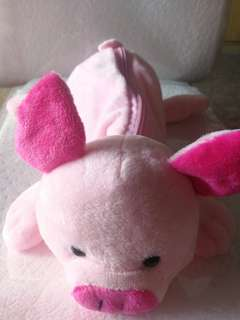 Pink piggy pencil case