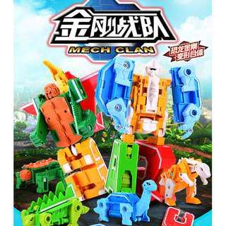Alphabet Mech Clan Dino Robots Transformers
