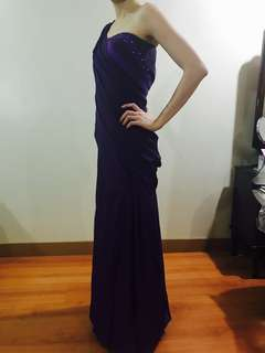 FOR RENT Violet one side long formal gown