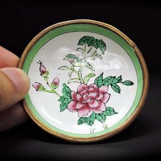 【舊】– 畫花鳥搪瓷碟10隻