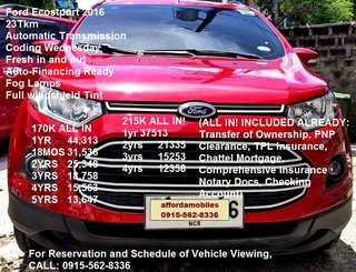 Ford Ecosport 2015 Automatic 1.5L