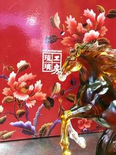 Horse Liu Li 琉璃工房 with receipt