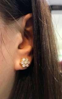 14K Diamond Rositas Earrings