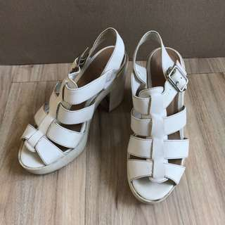 New look wedges white