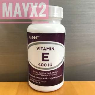 💥抗氧化💥提升膚肌質素💥抗自由基💥 GNC 維他命E 400 IU / 100粒 (Vitamin E 400IU)