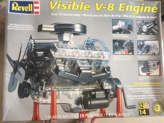 Visible V-8 Engine