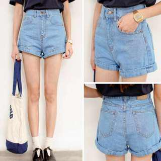 AA inspired high waisted shorts