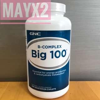 💥速效抗壓抗疲勞💥(250粒) GNC 綜合維他命B 100 GNC B-COMPLEX Big 100