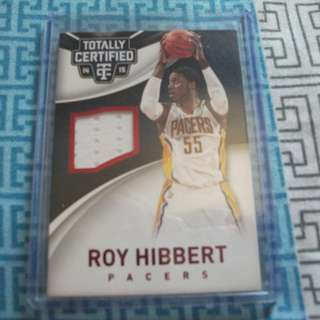 Roy Hibbert Game-Worn Memorabilia/Relic Card 68/249
