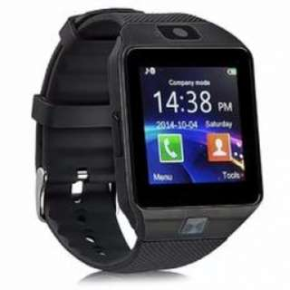 Black Bluetooth Smart Watch Phone with built-in camera