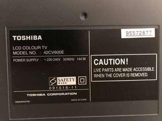 "Toshiba Regza 42"" HD"