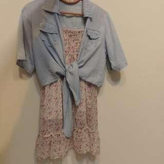 🚚 碎花洋裝&短版小外套 dress