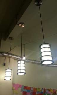3-Pc Drop ceiling lamp