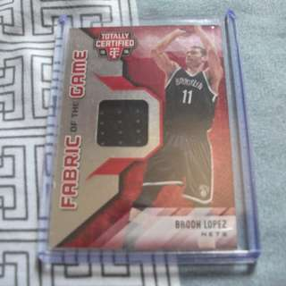 Brook Lopez Game-Worn Memorabilia/Relic Card 65/199