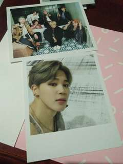 [QUIT SALE] BTS WINGS JIMIN AND GROUP POLAROID