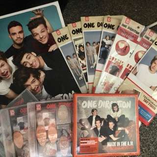 ONE DIRECTION MERCH PACK (with Made In The A.M Album ultimate fan edition and OFFICIAL annual 2014 Book)