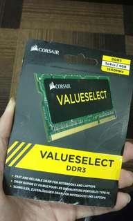 RAM Corsair SODIMM DDR3 4gb untuk Laptop