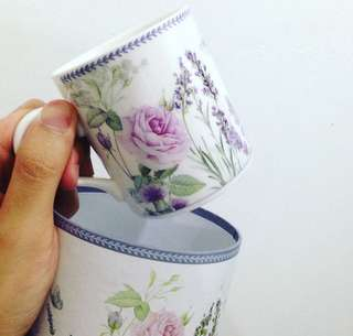 Perfect for gift set- floral mug