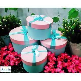 Hampers Kotak Hadiah Silinder Kemasan Gift Box 4Set