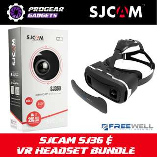 BUNDLE PROMOTION!!! SJCAM SJ360 2K HD 360 Degree Camera & FREEWELL 3D VR Head Set