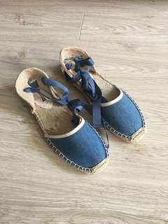 Soludos denim sandal espadrilles size 7