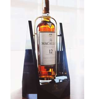 罕有! Macallan 12y Sherry Oak 1.75L 連陳列架