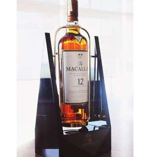 罕有! Macallan原裝陳列架連12y Sherry Oak 1.75L