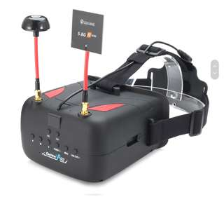 6🔥💥Last set💥Eachine VR D2 5 Inches 800*480 40CH Raceband 5.8G Diversity FPV Goggles with DVR Lens Adjustable