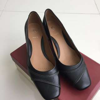 K by Clarks Dolly Rose Black Leather