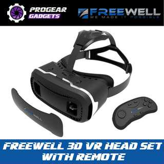 PROMOTION!! FREEWELL 3D VR Head Set  with Bluetooth Remote for iOS and Android