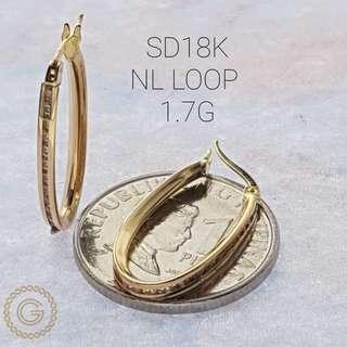 Loop earrings Saudi gold 18k