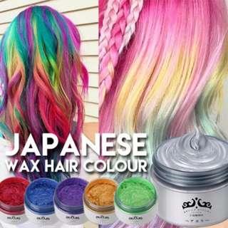 🚚 JAPAN TEMPORARY WASHABLE COLOR HAIR WAX