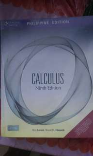 Calculus (Ninth Edition) by Larson and Edwards