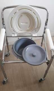 Commode  wheelchair sanitary