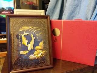 立體金箔畫【連年有餘】框畫系列 原價HKD3000 特價HKD2200
