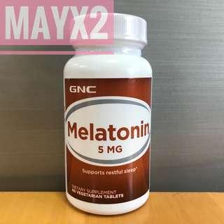 💥 有助入睡💥提升睡眠質素💥紓緩時差引起的不適💥 GNC Melatonin (褪黑激素) 5mg (60粒)