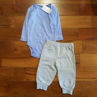 Carter jumpsuit biru set pant (6mth)